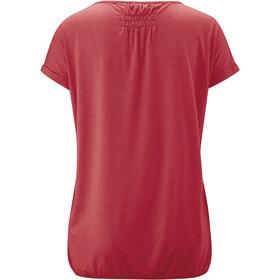 Maier Sports Lulea T-Shirt Femme, chili pepper melange